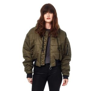 "NWT Hudson ""The Puffer"" Cropped Bomber (M)"